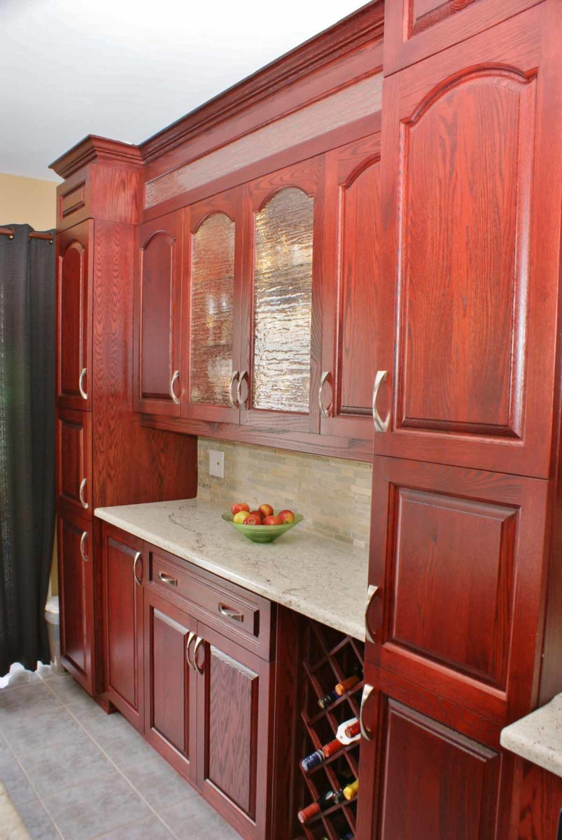 cabernet oak kitchen les armoires s guin cabinets. Black Bedroom Furniture Sets. Home Design Ideas