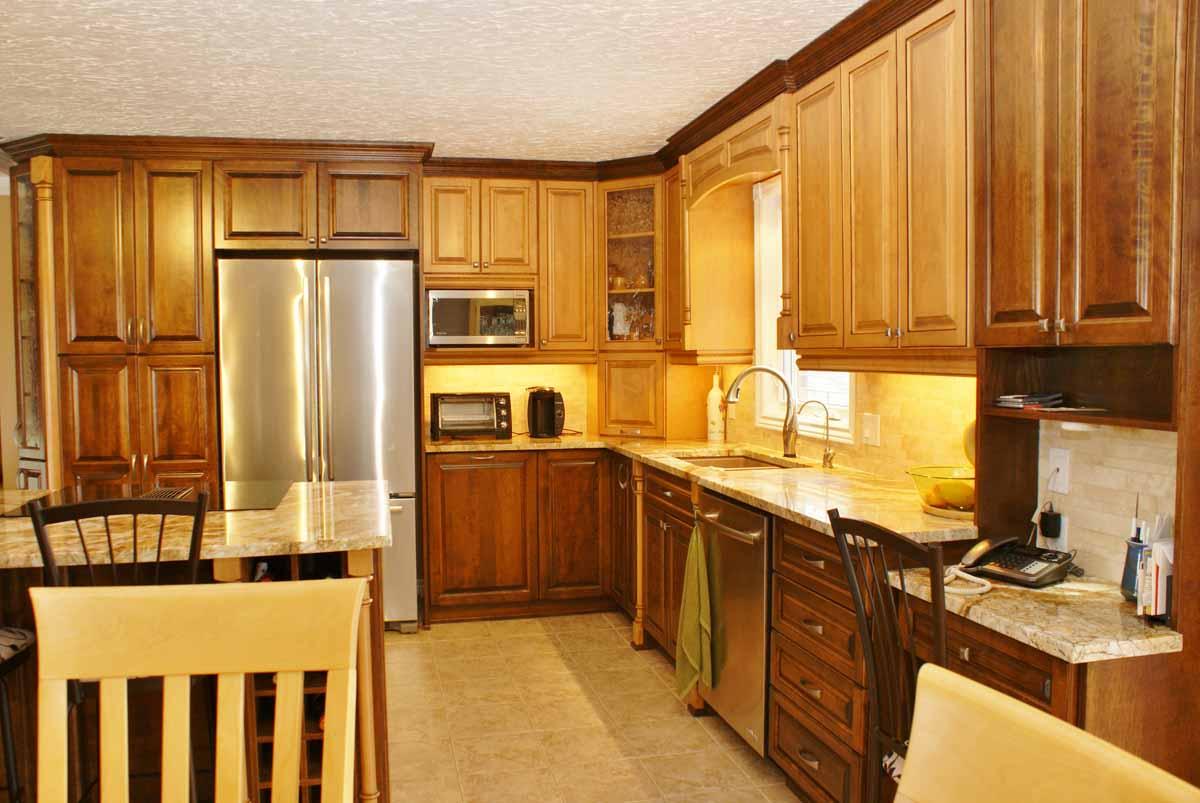 Color Mix Kitchen Les Armoires S 233 Guin Cabinets